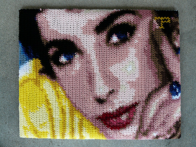 Elizabeth Taylor crochet by numbers