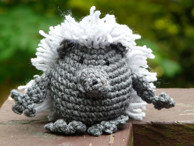 crochet porcupine amigurumi porcupine