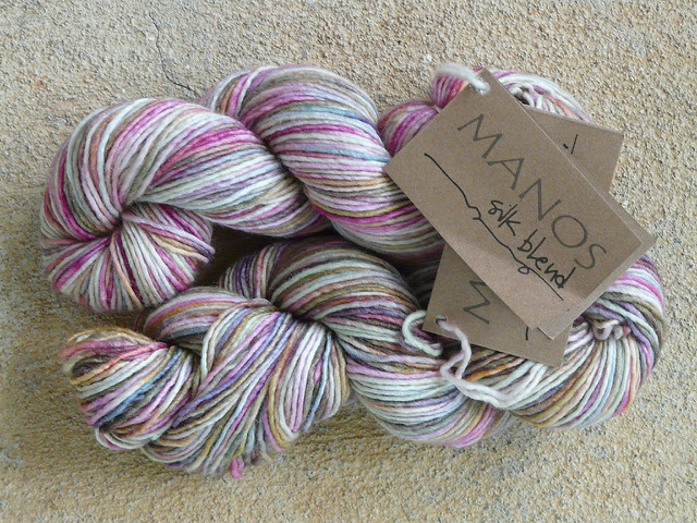 variegated silk and merino yarn