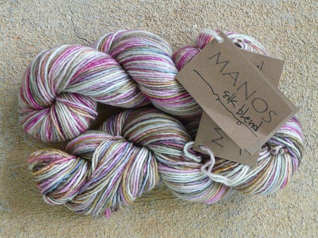 variegated silk and merino yarn