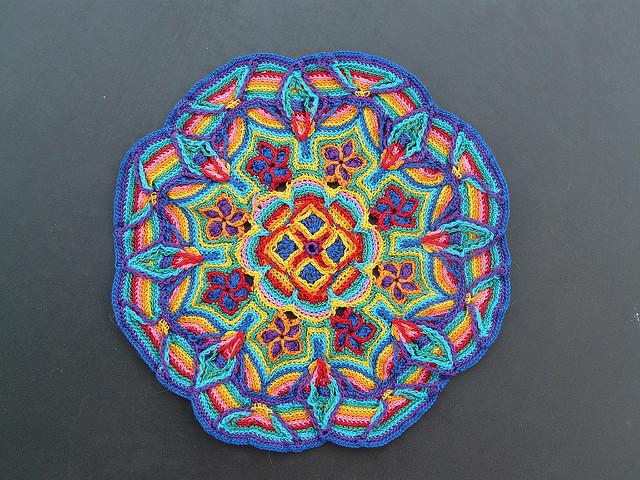 overlay crochet motif
