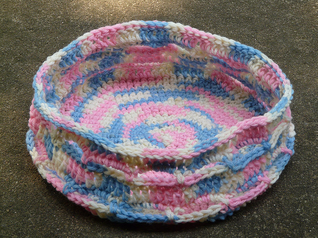 future felted crochet stash basket