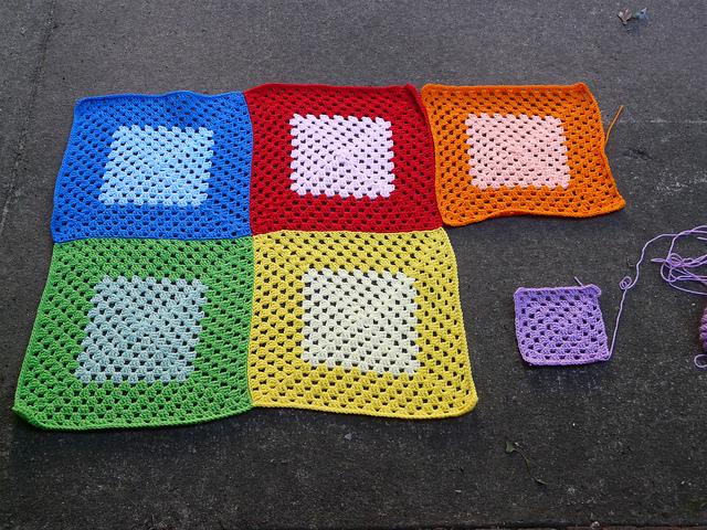 granny square crochet blanket, crochetbug, crochet squares, granny squares, rainbow