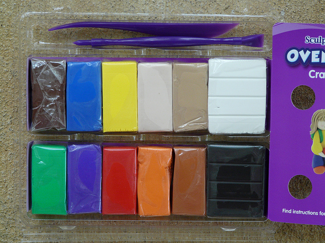 an array of polymer clays