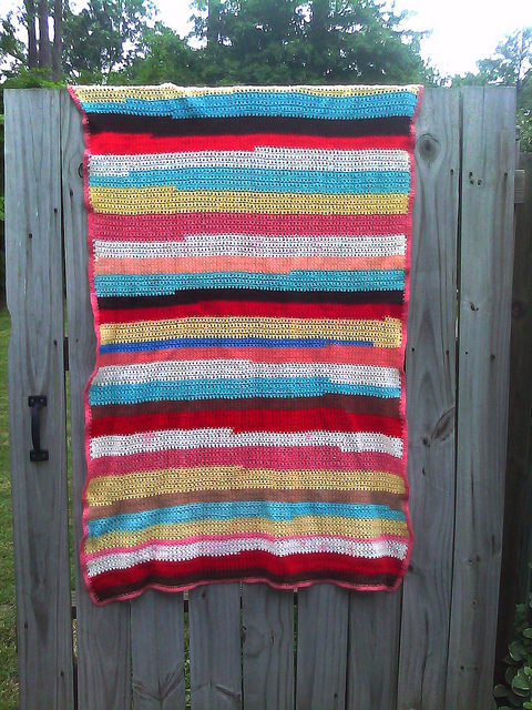 yarn scrap crochet blanket