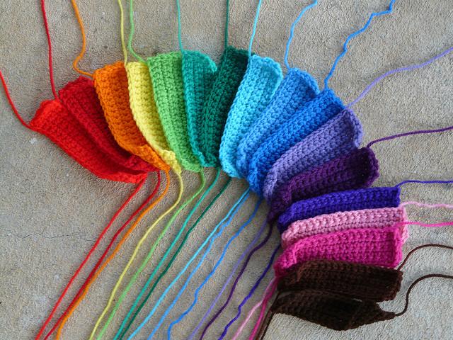 crochet blanket crochet rectangles