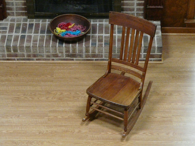 rocking chair for crochet