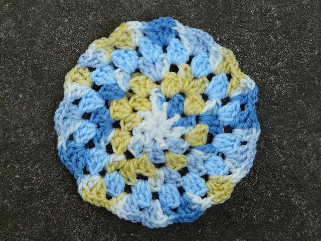 granny square crochet circle