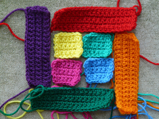 crochet squares and crochet rectangles