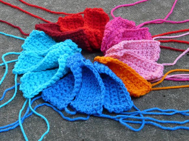 thirteen crochet rectangles