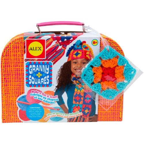crochetbug, crochet kit, start them early, granny square kit, crochet square kit