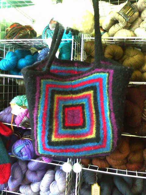 crochetbug, local yarn shop, lys, felting supplies, felted bag
