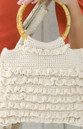 crochetbug, crochet ruffle purse, crochet purse, michele wilcox, red heart yarns