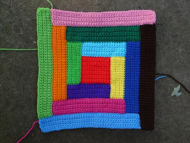crochet square crochet rectangles
