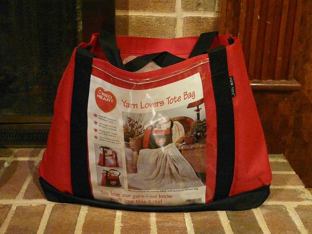 yarn lovers tote bag