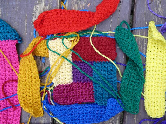 crochet rectangles, crochet squares