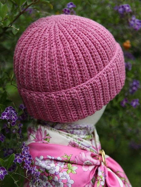 crochetbug, crochet hat, crochet cap, ribbed crochet hat, textured crochet hat