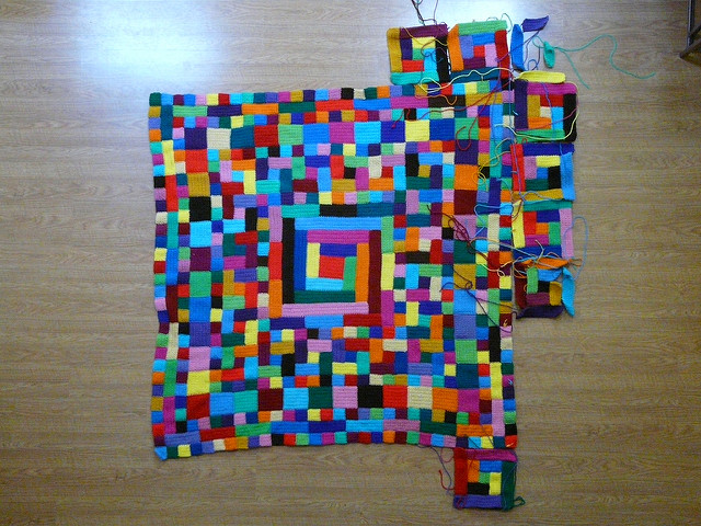 A moment in time: my 2011 North Carolina State Fair crochet project today at 3:42 pm