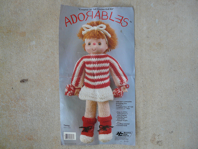 Vintage crochet doll pattern