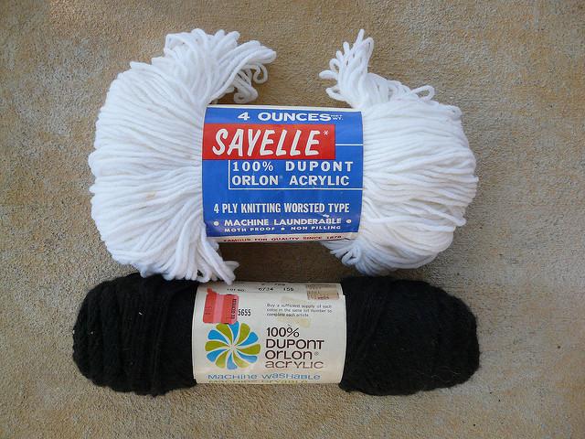 vintage acrylic yarn