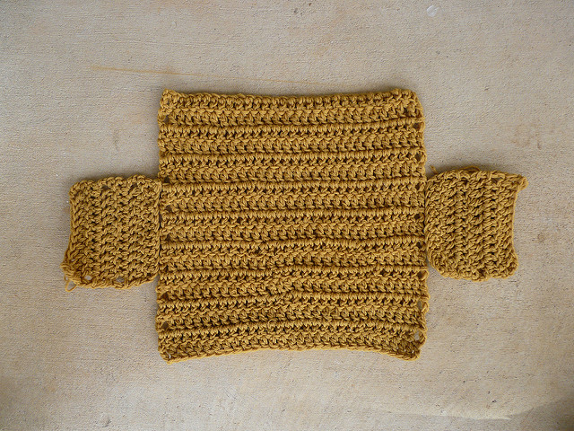 three crochet squares