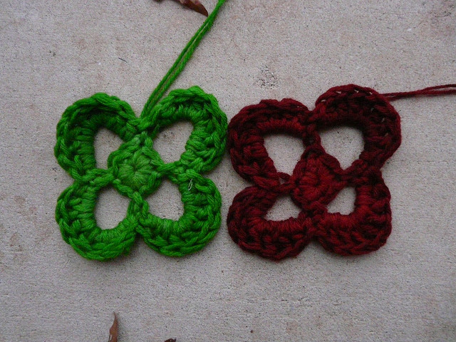 Kool-Aid dyed crochet flowers