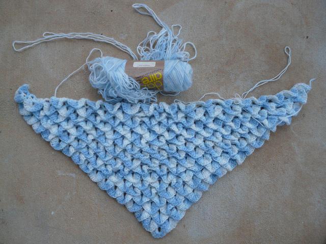 crochetbug, crochet stitch, crocodile stitch, crochet shawl, crocodile crochet stitch shawl, vintage yarn, use what you have