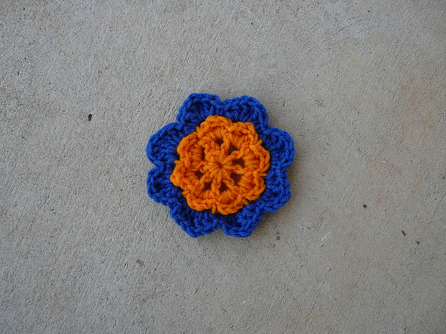 Two more rounds of a crochet square