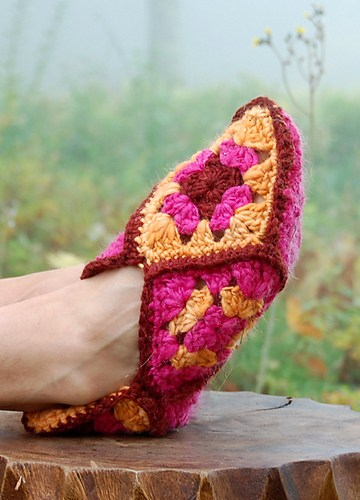 crochetbug, crochet bucket list, crochet slippers, crochet footwear, crochet squares, granny square slippers, granny squares