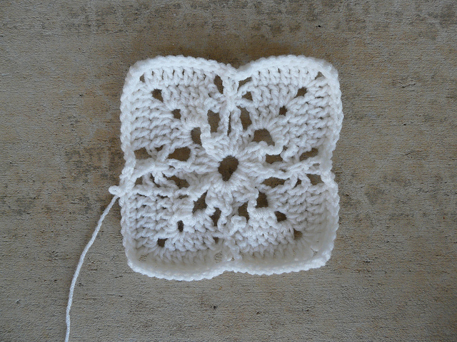 lacy crochet square