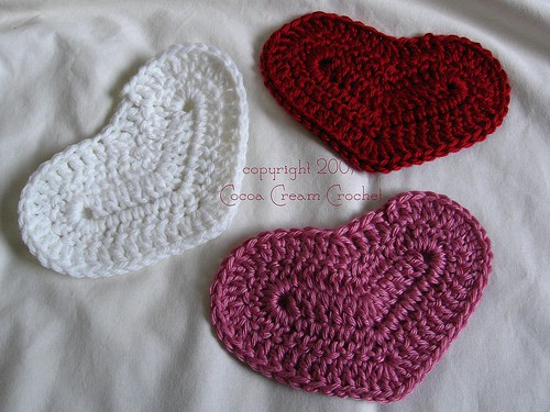 crochetbug, crochet hearts, crochet motifs, lemon lane