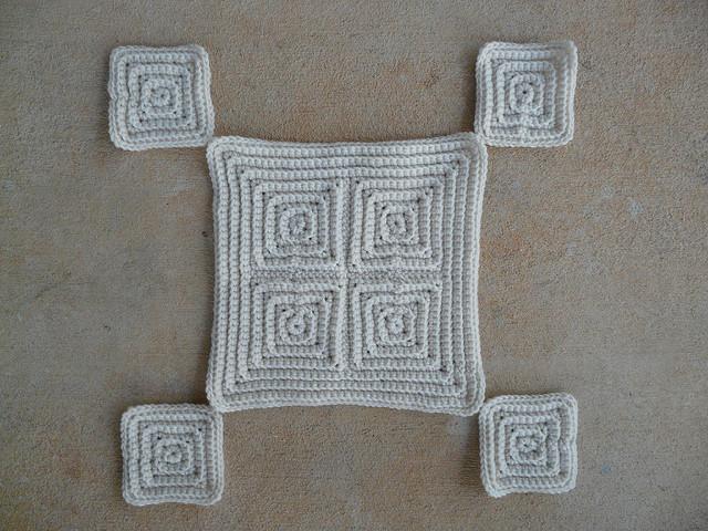 textured crochet squares