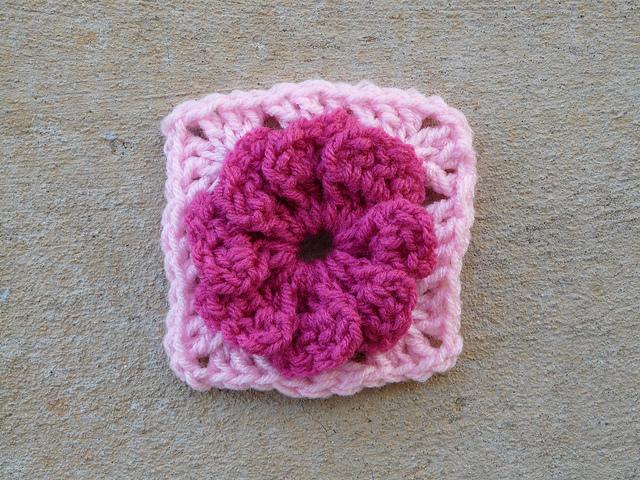 textured crochet flower