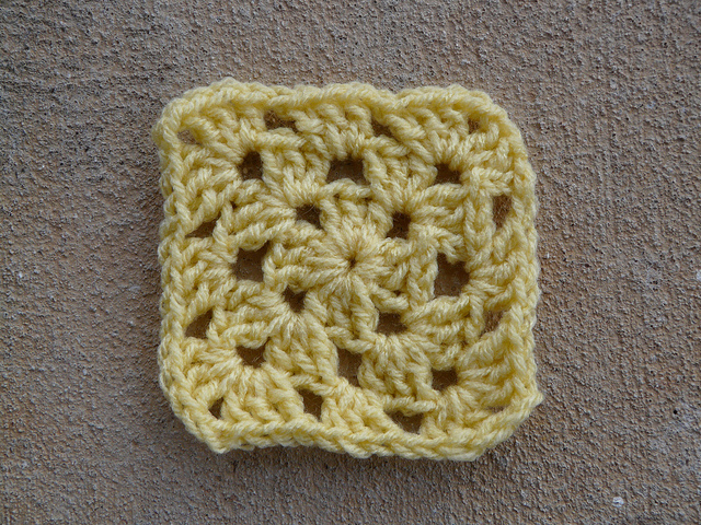 A three-round granny square