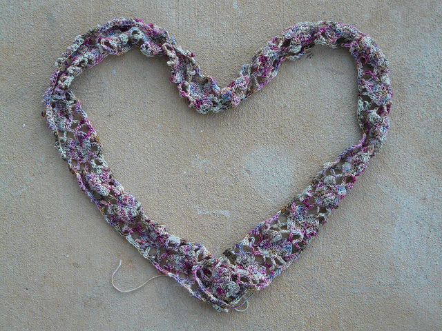 crochetbug, alice merlino, crochet hearts, crochet scarf, valentines day crochet