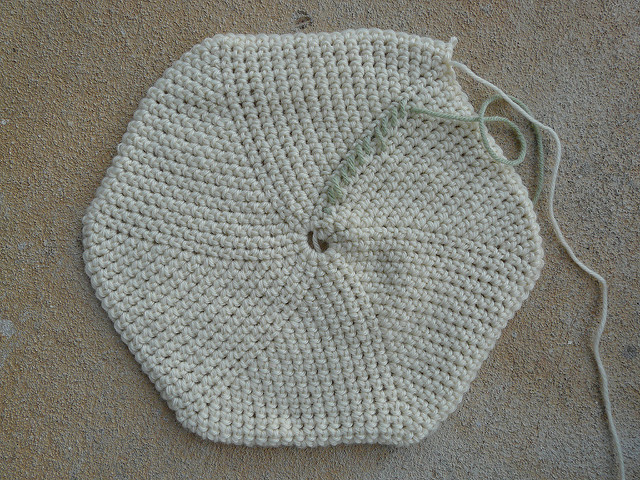 crochet stash basket base