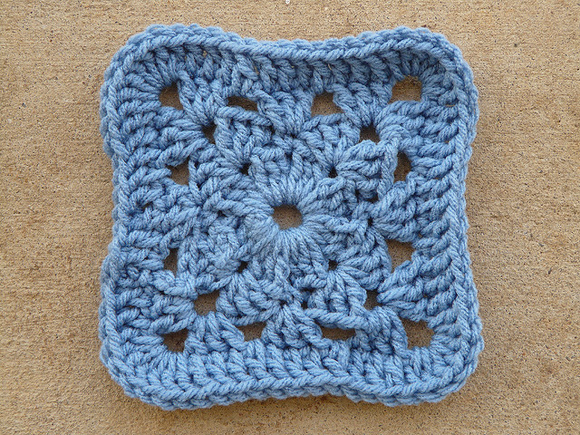Variation on a crochet granny square