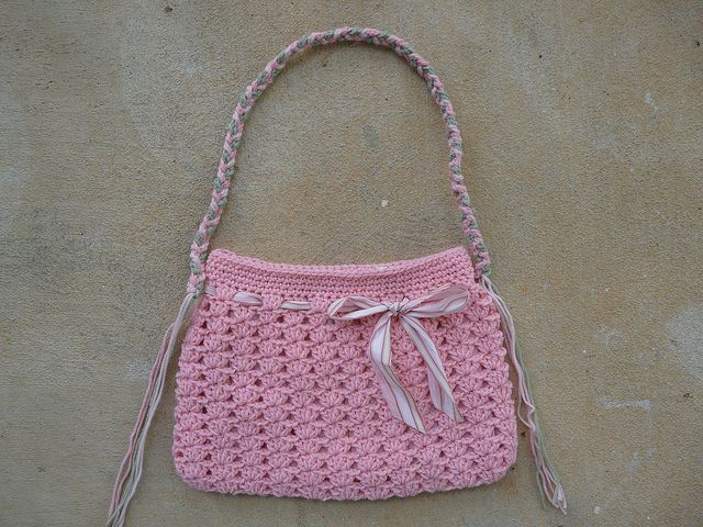 A braided strap to be used as a handle for the future crochet hobo bag