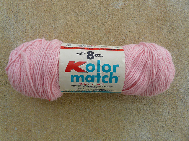 A vintage pink yarn from Kmart