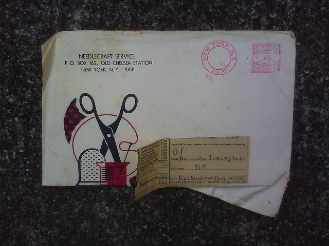 An envelope for Lillie Simington