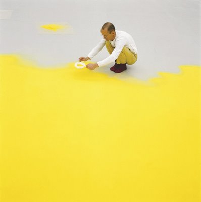 Wolfgang Laib at work