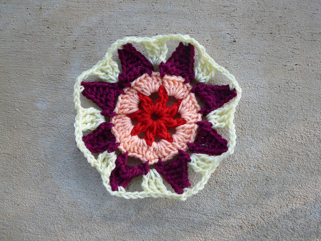 crochet square crochet octagon center