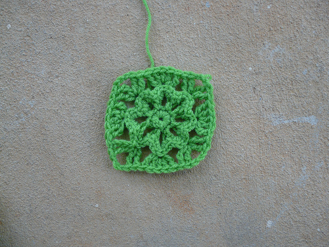 crochet flower crochet square