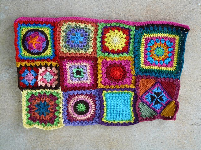 pink crochet strip