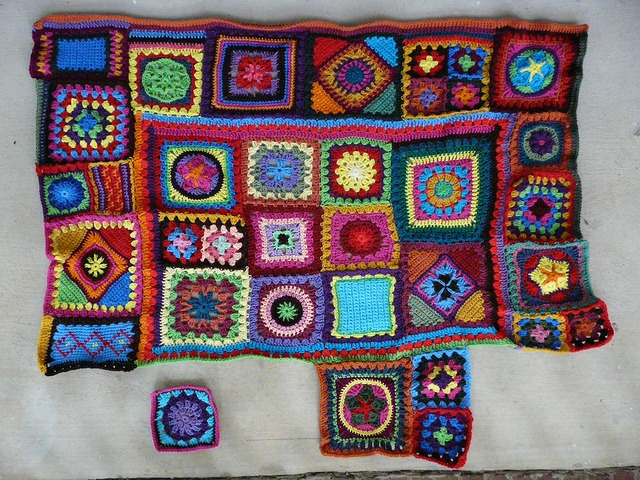 join as you go crochet blanket