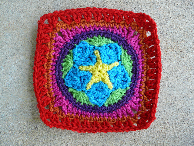 crochet star crochet square