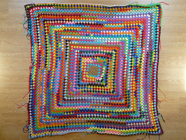 large crochet granny square