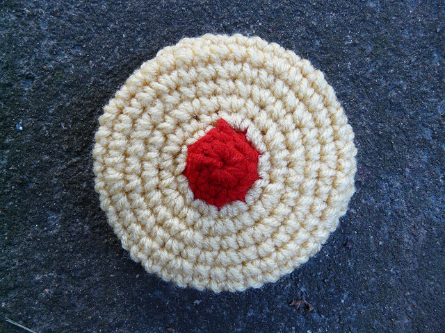 One crochet cherry wink