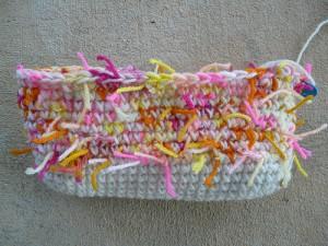 crochetbug, crochet purse, crochet tote, crochet bag, scrap yarn crochet