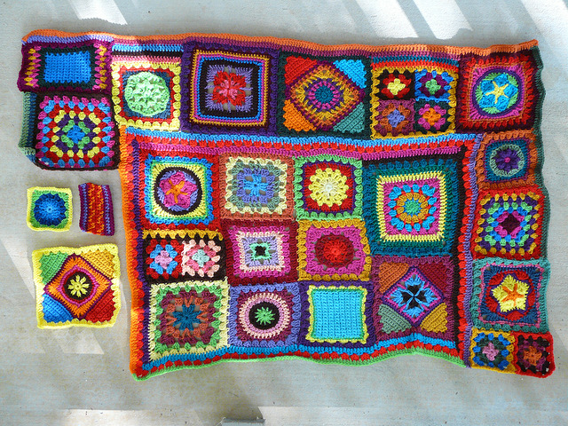 join as you go crochet blanket